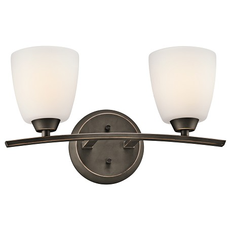 Kichler Two Light Olde Bronze Vanity