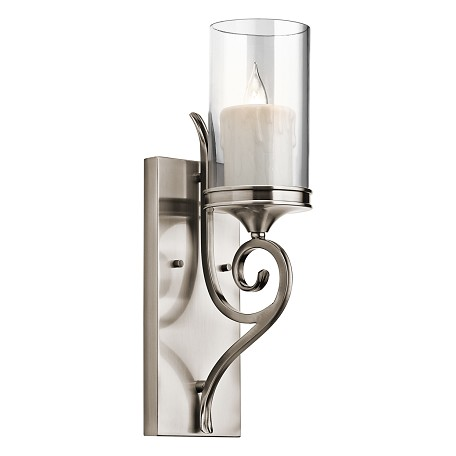 Kichler Classic Pewter 1 Light Up Light Wall Sconce From The Lara Collection