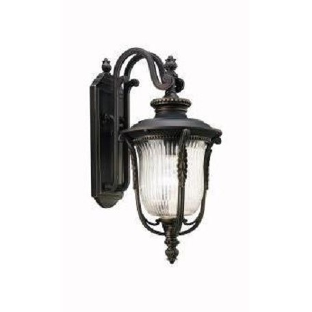 "Kichler Kichler 49002Rz Rubbed Bronze Luverne Collection 1 Light 18"" Outdoor Wall Light"