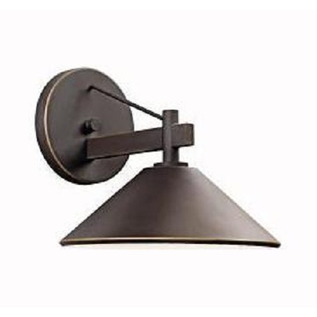Kichler Olde Bronze Ripley Collection 1 Light 9In. Outdoor Wall Light