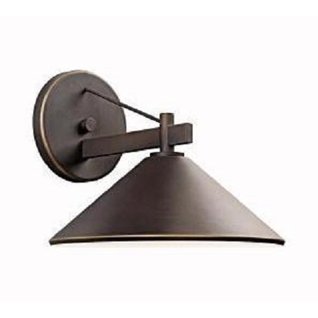 Kichler Olde Bronze Ripley Collection 1 Light 10In. Outdoor Wall Light