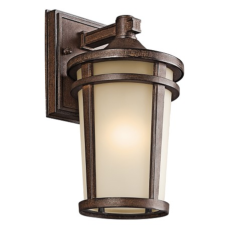 Kichler Brown Stone Atwood 1 Light 11In. Energy Efficient Fluorescent Outdoor Wall Light