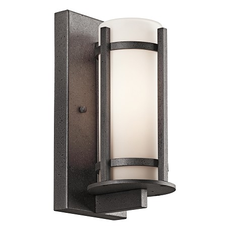 "Kichler Kichler 49119Avi Anvil Iron Camden Collection 1 Light 11"" Outdoor Wall Light"