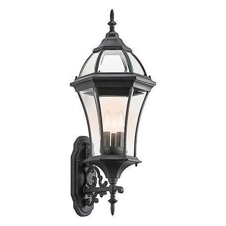 Kichler Black (Painted) Townhouse Collection 3 Light 31In. Outdoor Wall Light