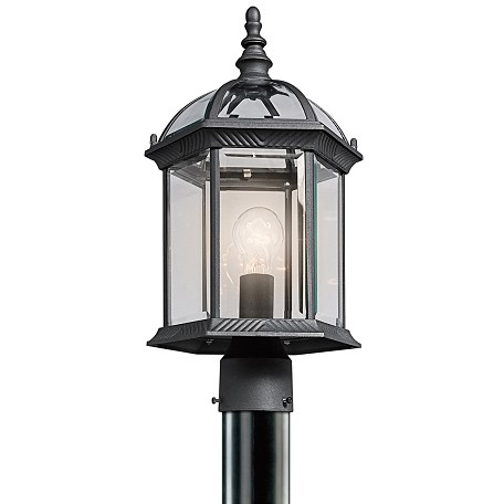Kichler Black Material (Not Painted) 1 Light Outdoor Post Light