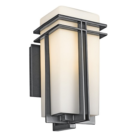 "Kichler Black (Painted) Tremillo Collection 1 Light 14"" Outdoor Wall Light"