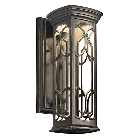 "Kichler Olde Bronze Franceasi 15"" Energy Efficient Led Outdoor Wall Light"