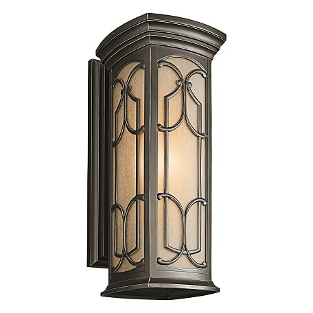 Kichler Olde Bronze Franceasi Collection 1 Light 22In. Outdoor Wall Light