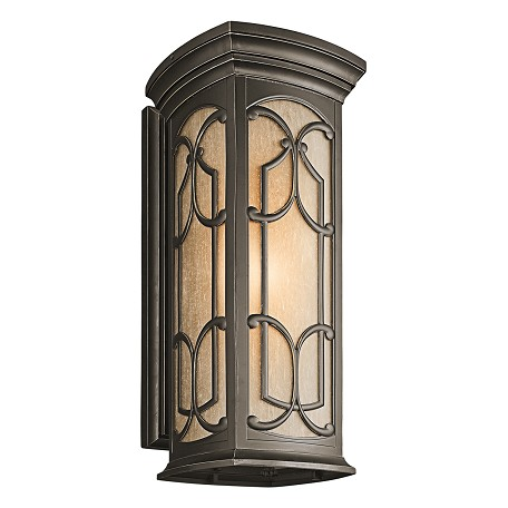 Kichler Olde Bronze Franceasi Collection 1 Light 25In. Outdoor Wall Light