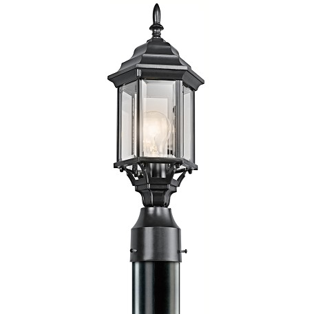 Kichler Black (Painted) Single Light Outdoor Post Light From The Chesapeake Collection