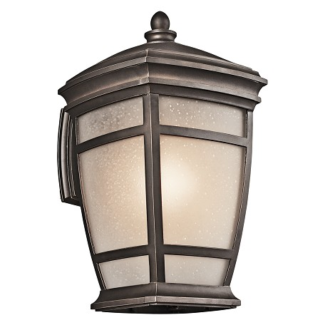 Kichler Rubbed Bronze Mcadams Collection 1 Light 18In. Outdoor Wall Light