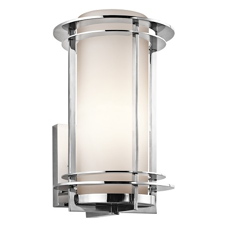 "Kichler Stainless Steel Lifetime Finish Pacific Edge 1 Light 13"" Outdoor Wall Light"
