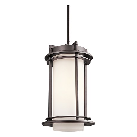 Kichler Architectural Bronze 1 Light Outdoor Pendant From The Pacific Edge Collection