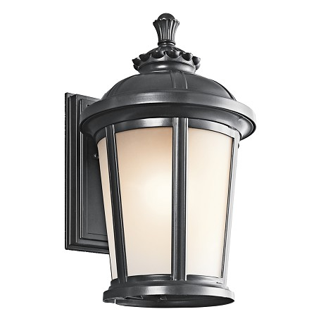 "Kichler Black (Painted) Ralston Collection 1 Light 17"" Outdoor Wall Light"