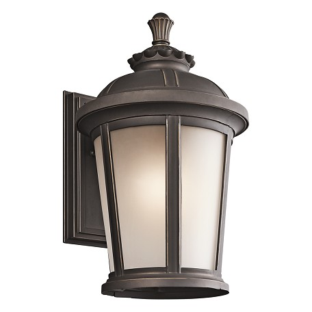 Kichler Rubbed Bronze Ralston Collection 1 Light 17In. Outdoor Wall Light