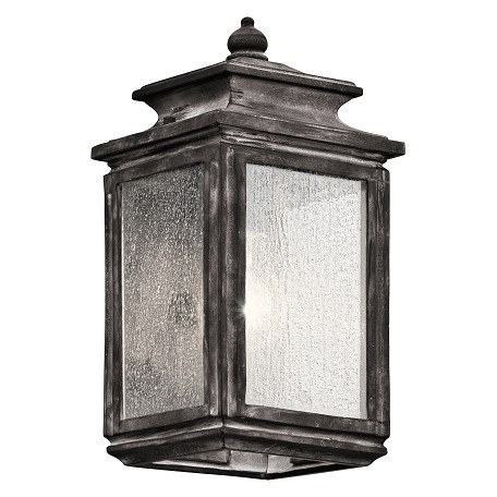 Kichler One Light Weathered Zinc Wall Lantern