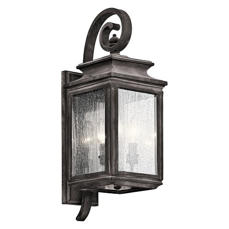 Kichler Three Light Weathered Zinc Wall Lantern