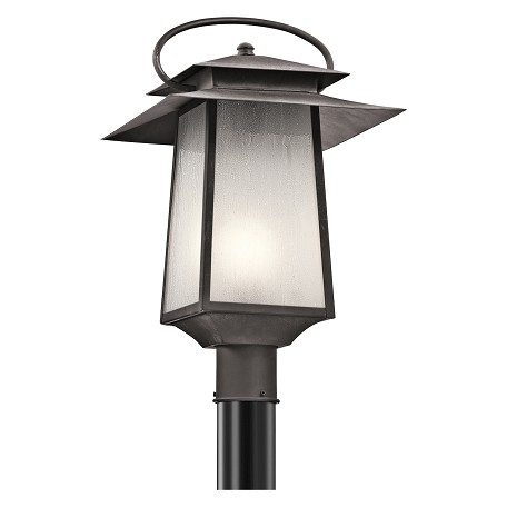 Kichler Kichler 49534Wzc Weathered Zinc Woodland Lake 1-Bulb Post Light