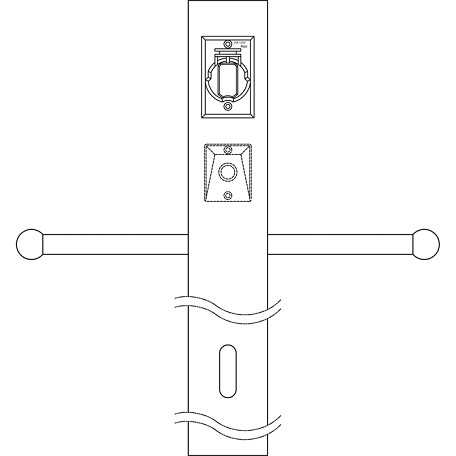 Kichler White 84In. Aluminum Post With Ladder Rest, Photocell And Outlet