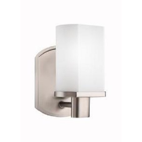 Kichler Brushed Nickel Lege 5In. Wide Single-Bulb Bathroom Lighting Fixture
