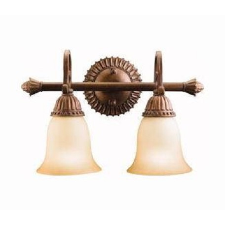 "Kichler Tannery Bronze With Gold Larissa 15.5"" Wide 2-Bulb Bathroom Lighting Fixture"