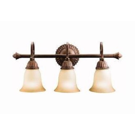 "Kichler Tannery Bronze With Gold Larissa 22.5"" Wide 3-Bulb Bathroom Lighting Fixture"