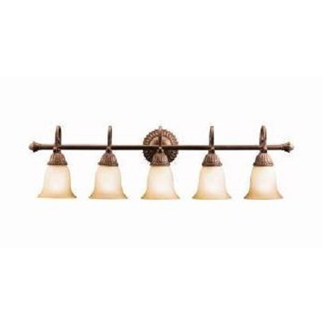 "Kichler Tannery Bronze With Gold Larissa 36.5"" Wide 5-Bulb Bathroom Lighting Fixture"