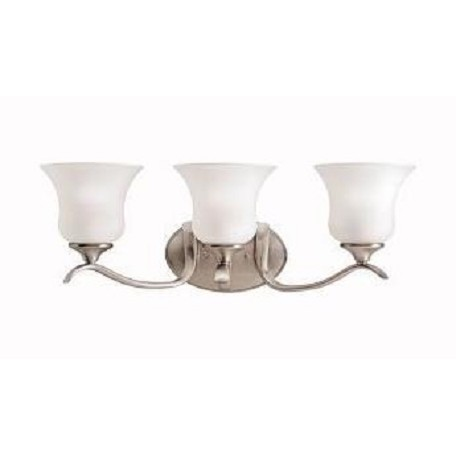 "Kichler Brushed Nickel Wedgeport 23.5"" Wide 3-Bulb Bathroom Lighting Fixture"