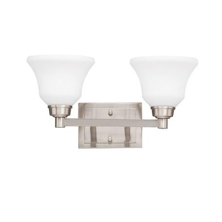 Kichler Brushed Nickel Langford 2 Light Bathroom Vanity Light