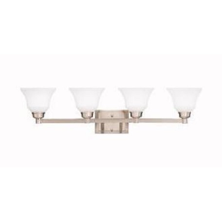Kichler Brushed Nickel Langford 35.25In. Wide Single-Bulb Bathroom Lighting Fixture