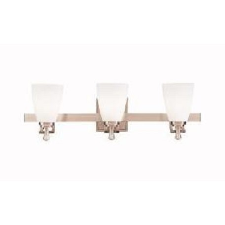 Kichler Brushed Nickel Uptown 24In. Wide 3-Bulb Bathroom Lighting Fixture