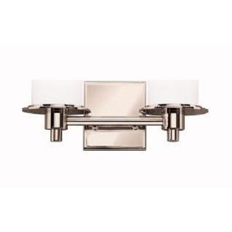 Kichler Polished Nickel Cylinders 13In. Wide 2-Bulb Bathroom Lighting Fixture