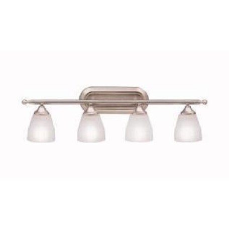 "Kichler Brushed Nickel Ansonia 31.25"" Wide 4-Bulb Bathroom Lighting Fixture"