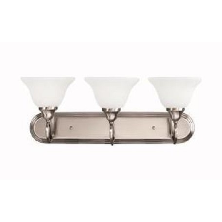 Kichler Antique Pewter Stafford 25.5In. Wide 3-Bulb Bathroom Lighting Fixture