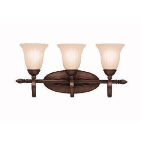Kichler Tannery Bronze 23.5In. Wide 3-Bulb Bathroom Lighting Fixture
