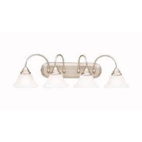 Kichler Brushed Nickel Telford 33.5In. Wide 4-Bulb Bathroom Lighting Fixture
