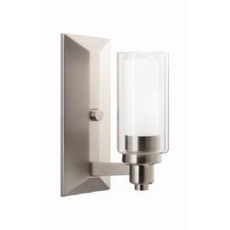 Kichler Brushed Nickel One Light Up Lighting Wall Sconce From The Circolo Collection