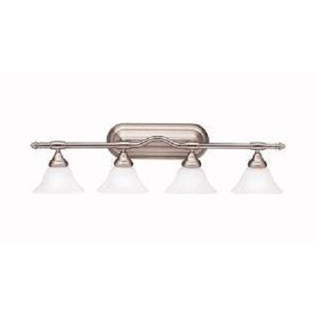 "Kichler Brushed Nickel Broadview 36"" Wide 4-Bulb Bathroom Lighting Fixture"
