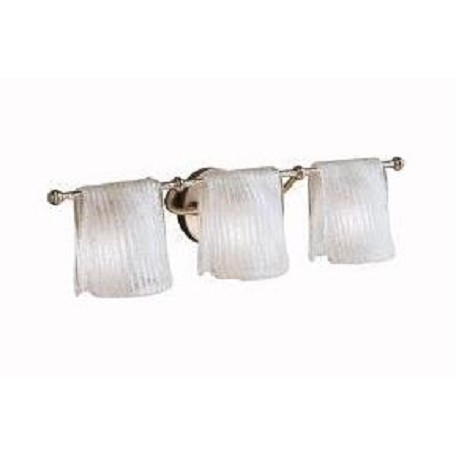 Kichler Brushed Nickel Drapes 26.5In. Wide 3-Bulb Bathroom Lighting Fixture