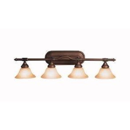 "Kichler Kichler 6494Oz Olde Bronze Broadview 36"" Wide 4-Bulb Bathroom Lighting Fixture"
