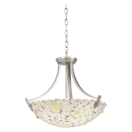 Kichler Pewter Dayzie 4 Light Convertible Semi-Flush Indoor Ceiling Fixture Or Pendant