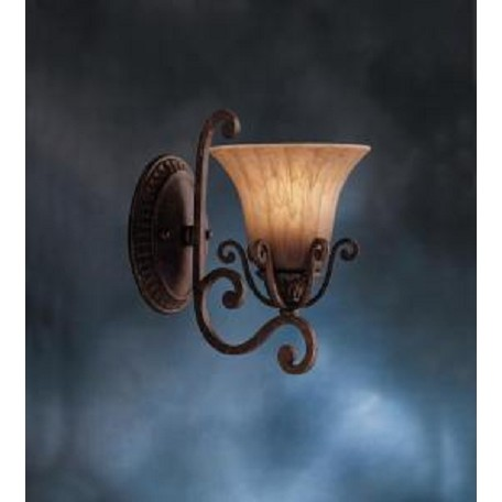 Kichler Carre Bronze One Light Up Lighting Wall Sconce From The Cottage Grove Collection
