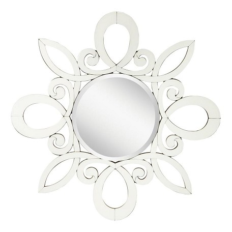 "Kichler Kichler 78146 White January Round Sunburst Mirror - 47"" X 47"""