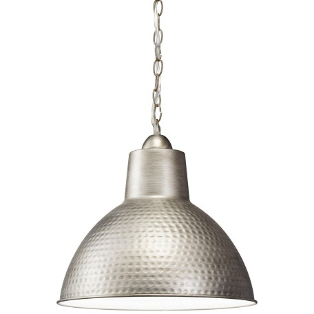 Kichler Antique Pewter Missoula Single Light 14In. Wide Pendant With Metal Shade