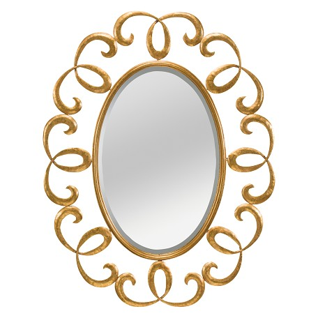 Kichler Antique Gold Marlowe Oval Sunburst Mirror - 36In. X 28In.