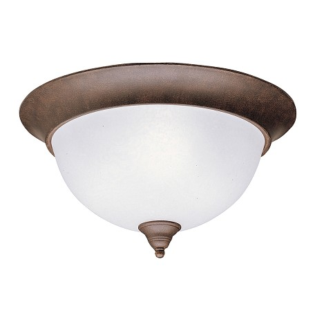 Kichler Three Light Tannery Bronze Bowl Flush Mount