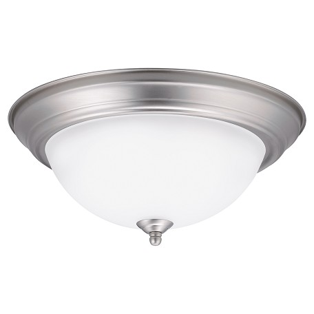 Kichler Brushed Nickel 2 Light Flush Mount Ceiling Fixture Brushed Nickel 8112ni From No Family
