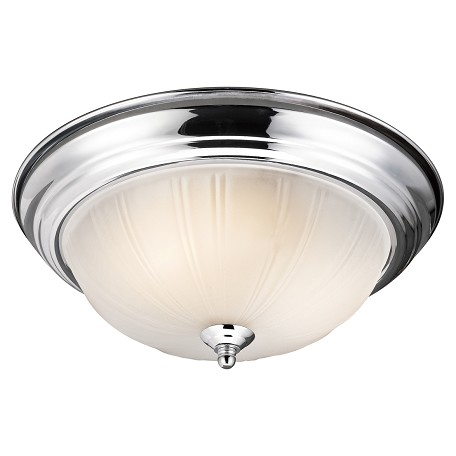 Kichler Two Light Chrome Bowl Flush Mount