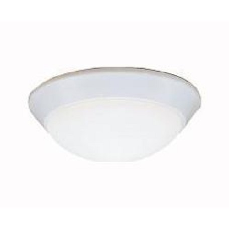 Kichler One Light White Bowl Flush Mount