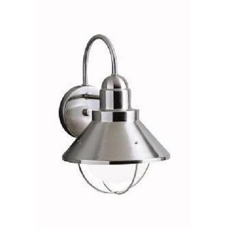 Kichler One Light Brushed Nickel Outdoor Wall Light